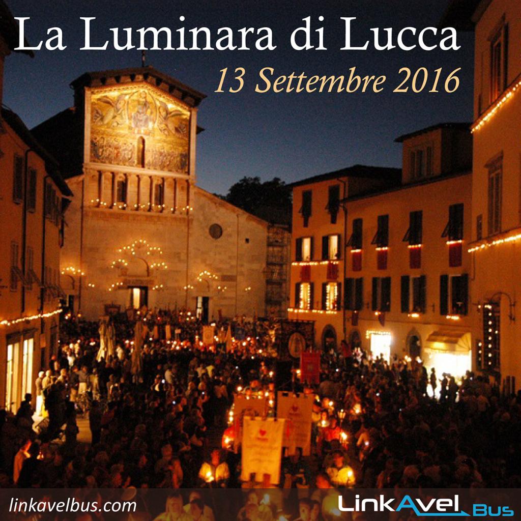 La Luminara di Lucca. Bus verso Lucca Linkavel