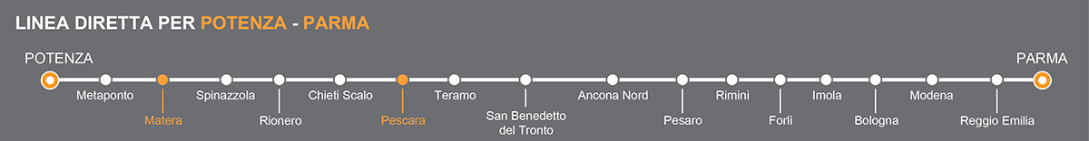 Bus Matera-Pescara, viaggio pullman in Abruzzo