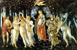 """Quadro """"Primavera"""" di Botticelli, conservato alla Galleria degli Uffizi di Firenze"""