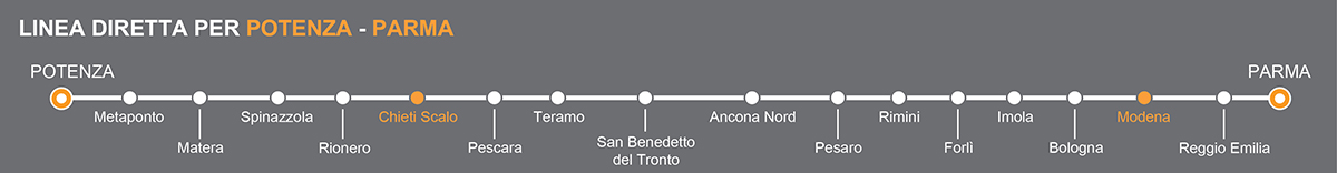 Bus Chieti - Modena, viaggia in pullman verso l'Emilia