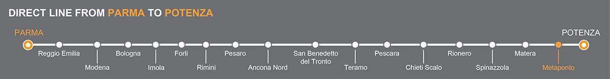 Bus Parma-Metaponto, travel by bus to Metaponto