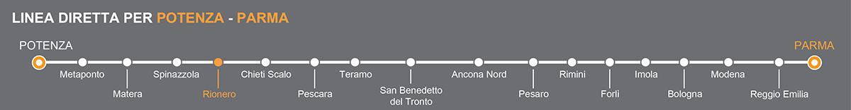 Bus Rionero-Parma, travel by bus to Emilia Romagna region
