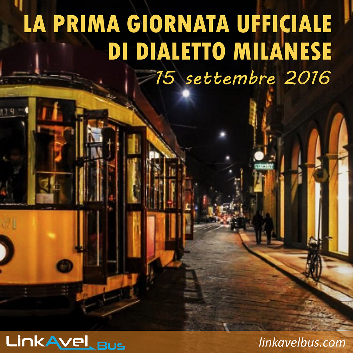 Post dialetto milanese Linkavel. Milano in bus. Viaggia con Linkavel