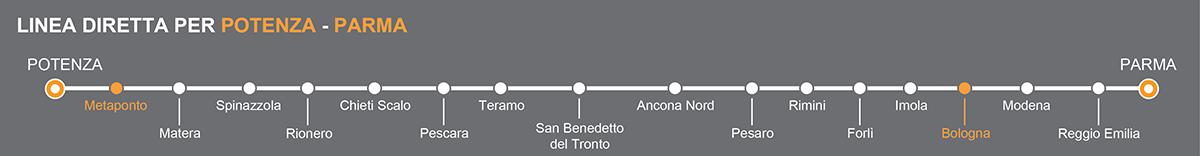 Bus Metaponto – Bologna, viaggio pullman verso l'Emilia