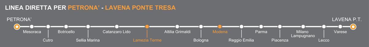 Bus Lamezia-Modena, viaggio pullman verso l'Emilia