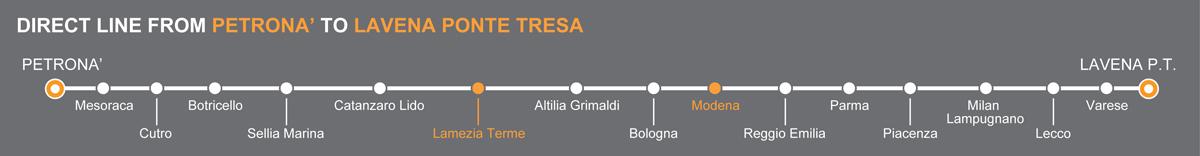 Bus line Esposito. Lamezia Terme Modena buses