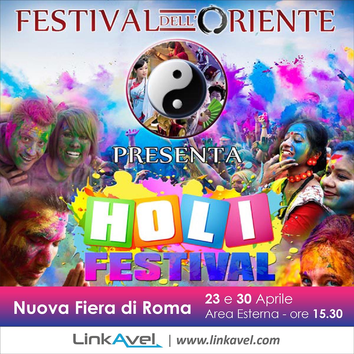Holi Festival, colori in festa a Roma
