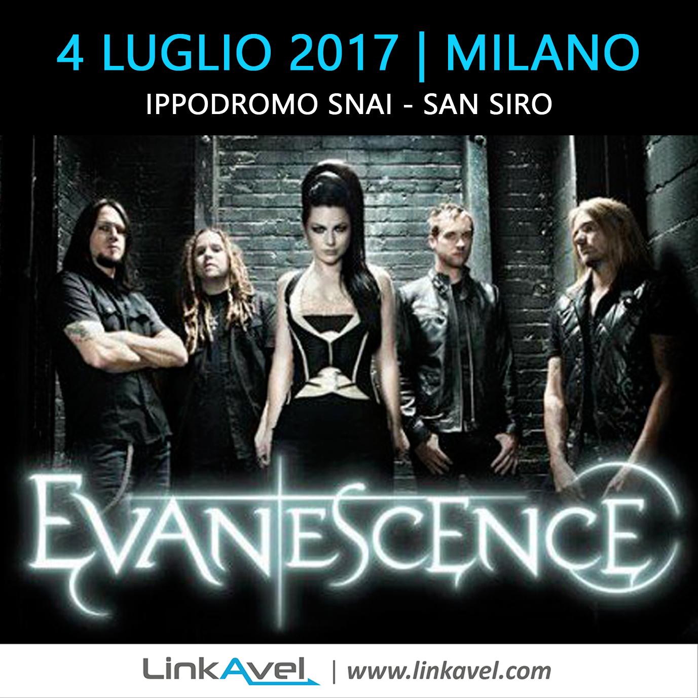 Concerto Evanescence, Milano 4 Luglio 2017