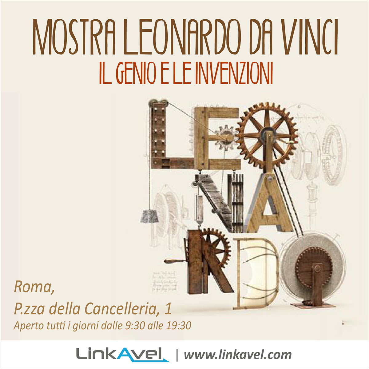 Mostra Leonardo Da Vinci, museo a Roma