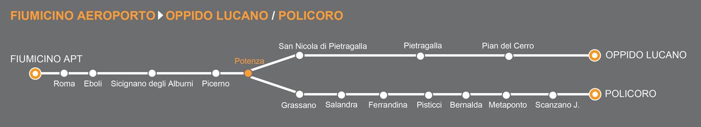Linea bus Fiumicino aeroporto-Basilicata. Centro Sud autoservizi