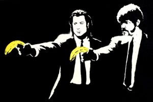 Quadro Pulp Fiction - Mostra Banksy a Firenze 2018